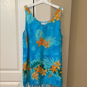 Tropical print Swimsuit cover up in shades…